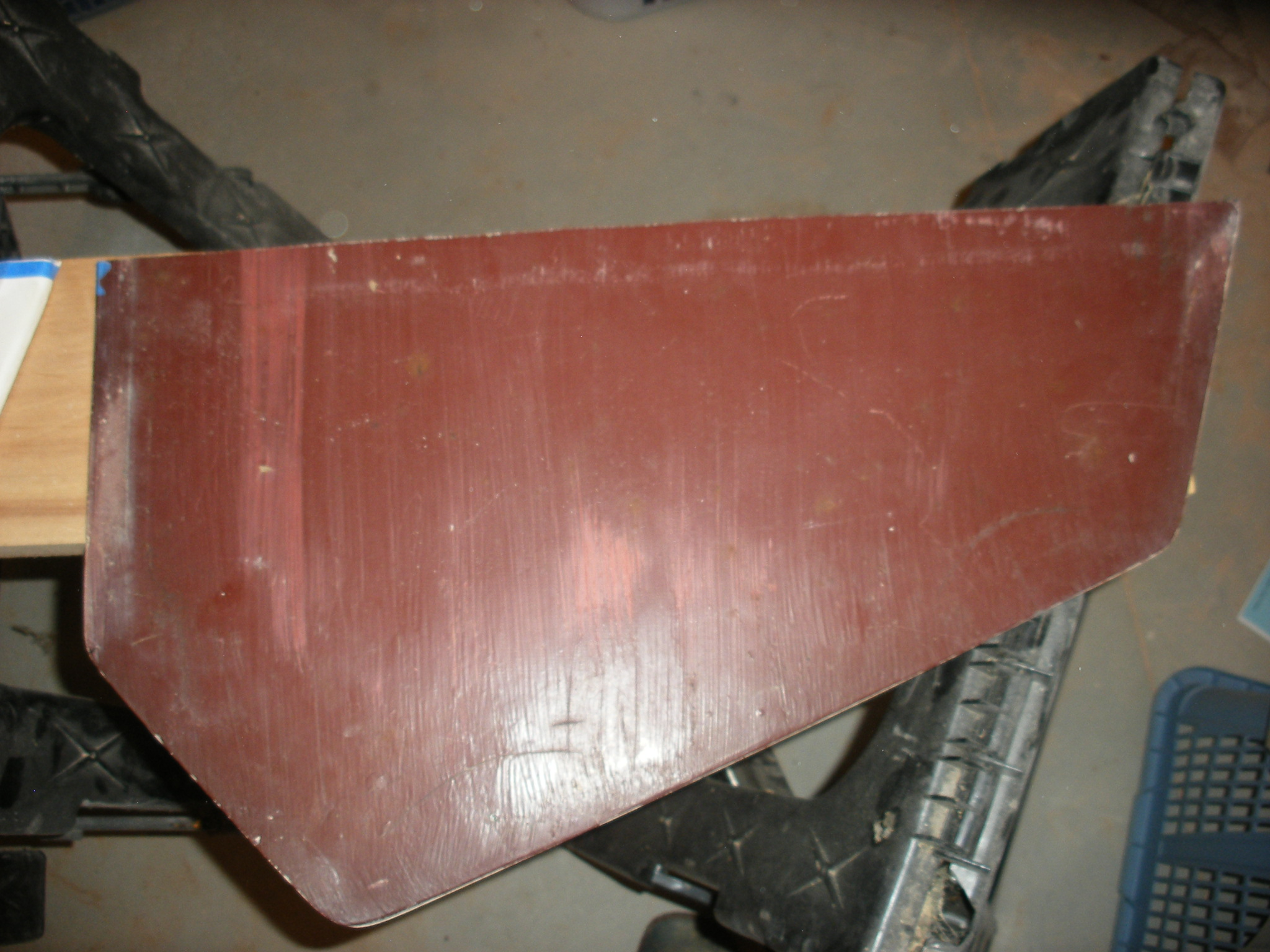 Bottom of hatch after cut.