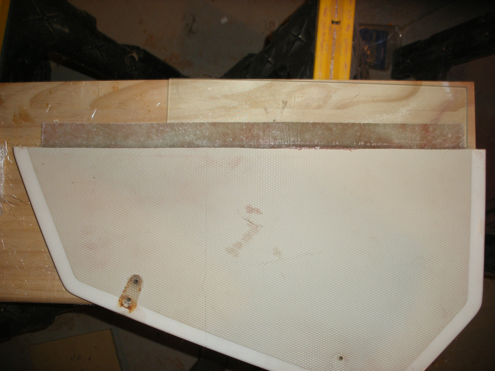 """Added 1 1/2"""" fiberglass lip to support the other half of the lid."""