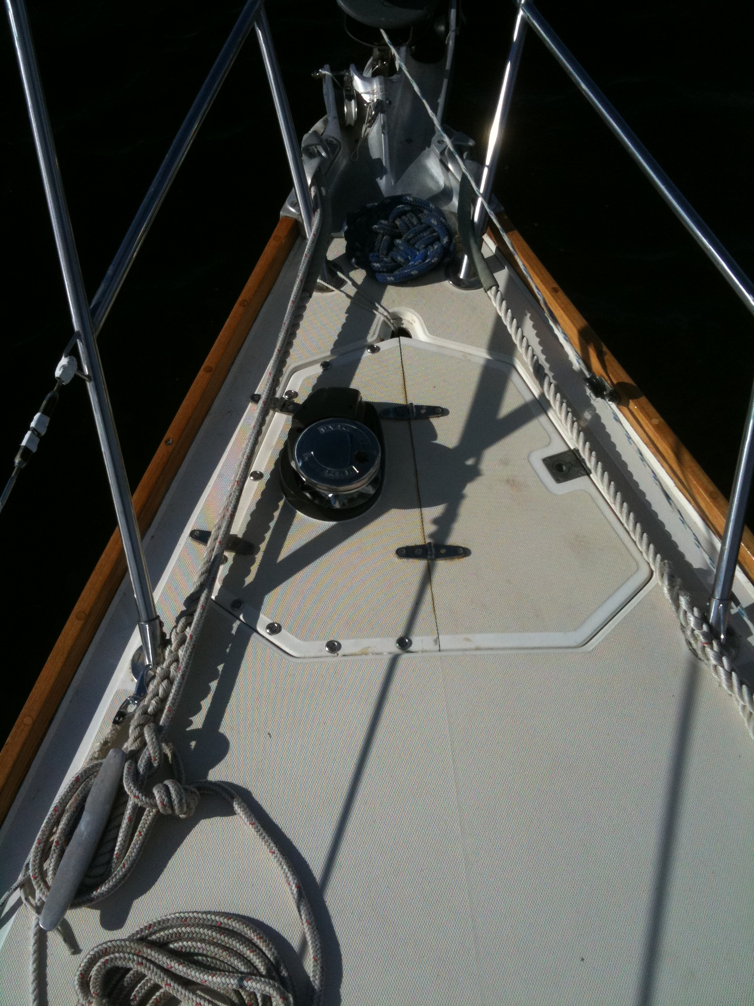 Bow and steam head shown in this photo