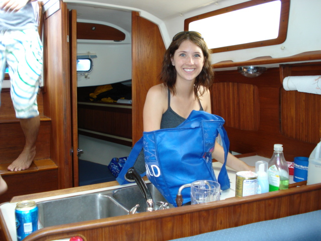 cleaning galley