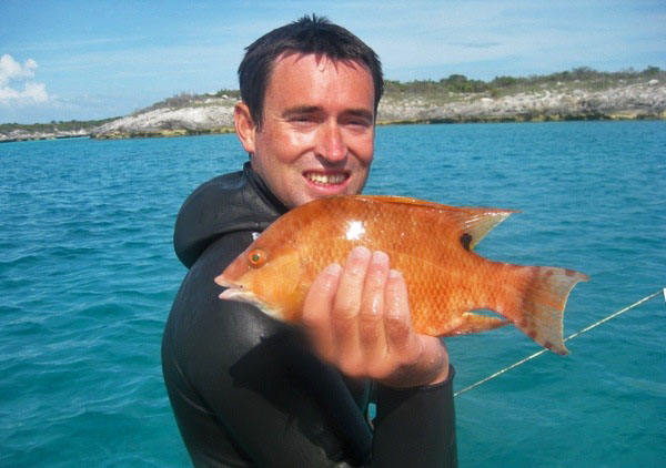 Brian, hog fish, Flamingo Cay