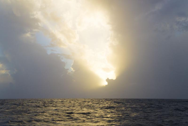 sunset off Honduras
