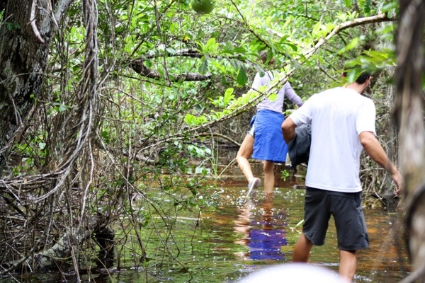mastic trail - Matt n Jess in swamp