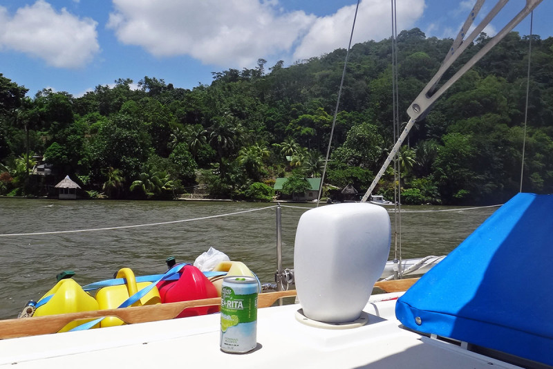 Lime-a-Rita in the Rio Dulce