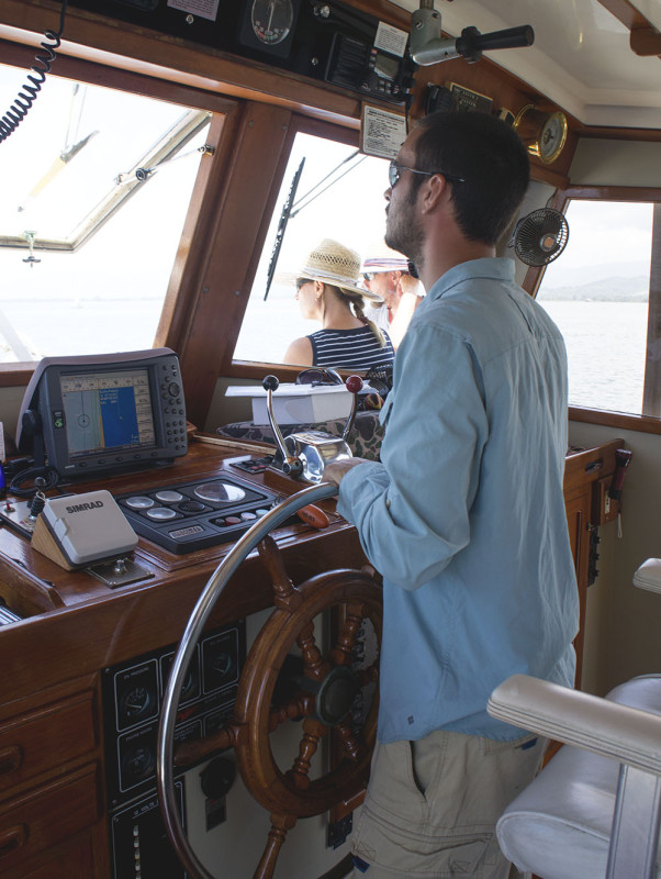 Matt at the helm