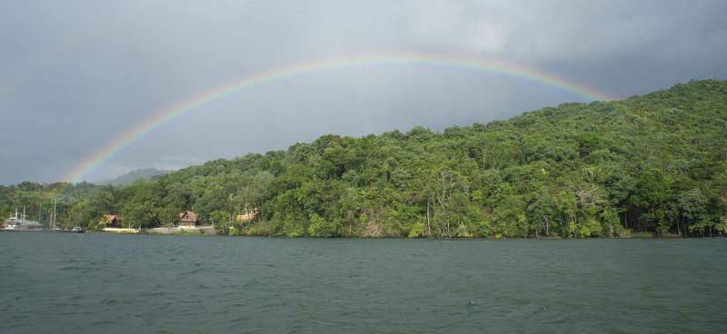 rainbow over Denny's Beach