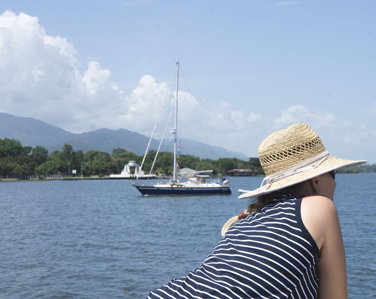 Elmarie at anchor