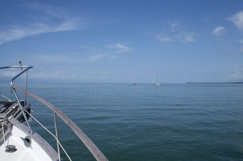 view from foredeck