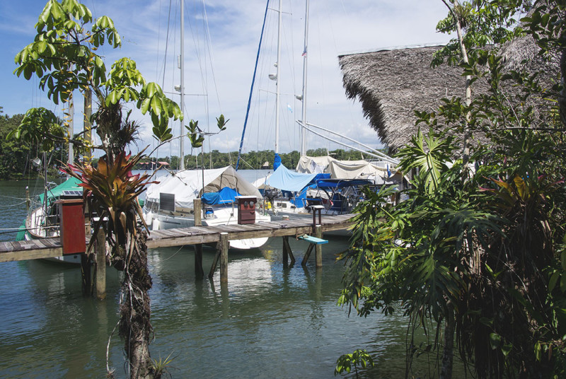 view of the boats from the bathrooms
