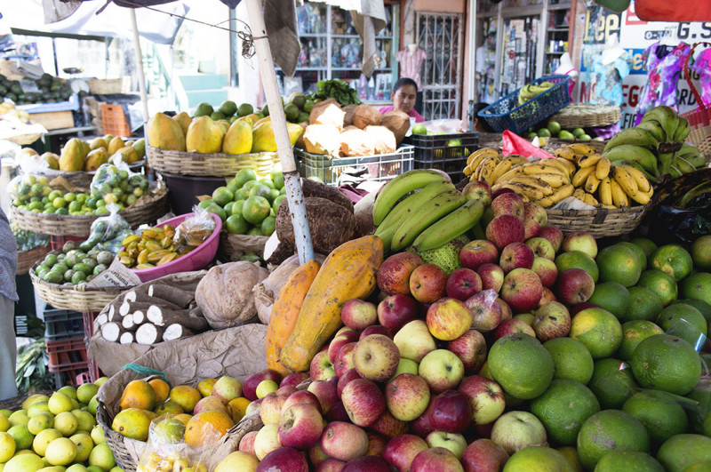 fruit stand in Morales