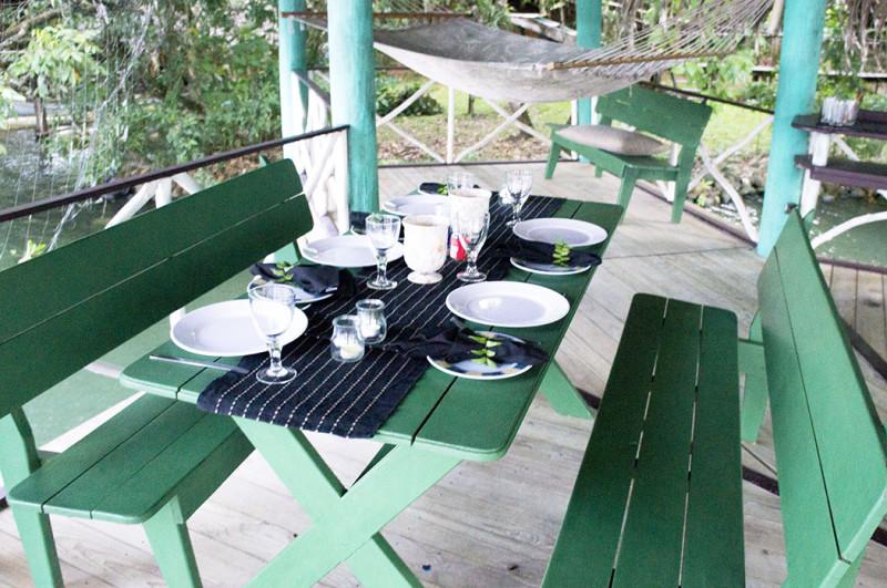 dining table at ranchito