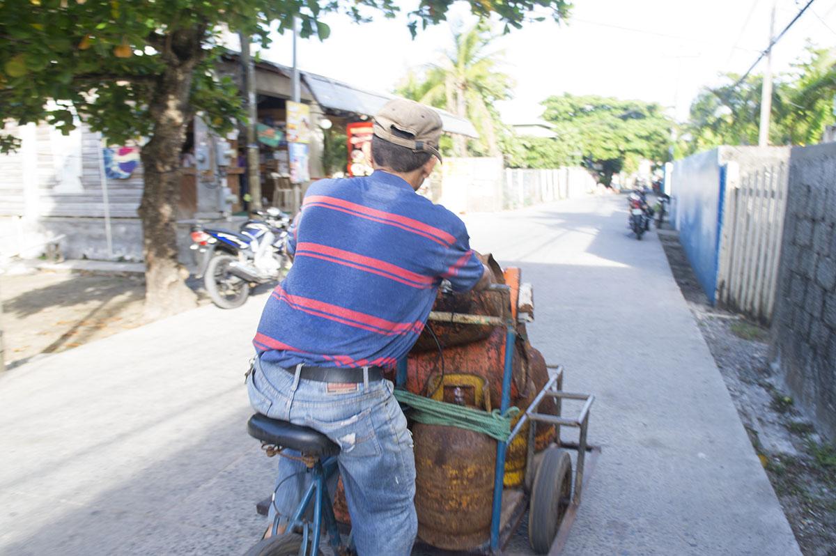 Local working in Utila