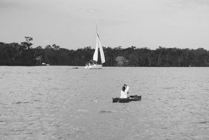 sailboat passing Guatemalan fisher 1