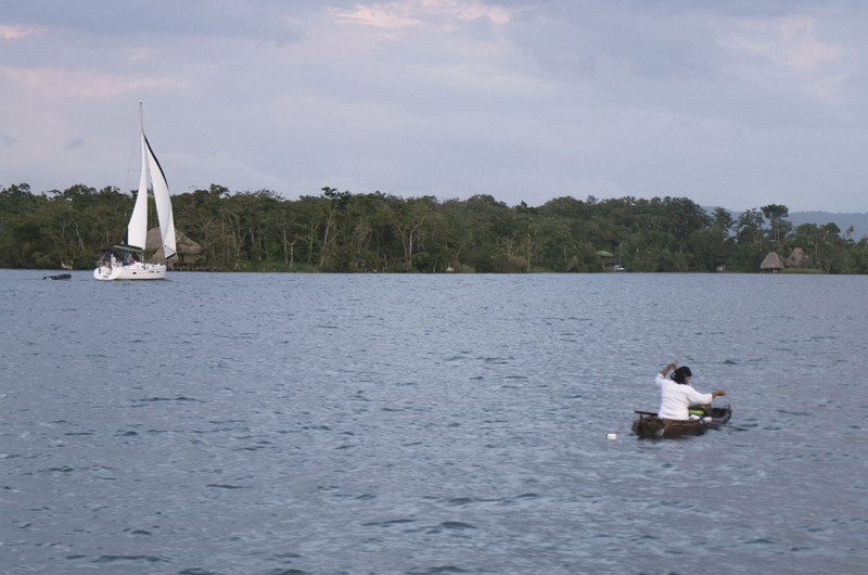 sailboat passing Guatemalan fisher 2