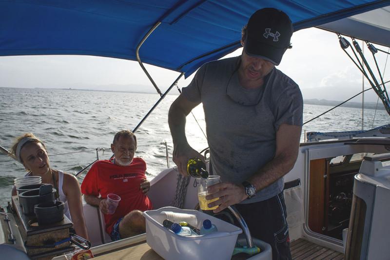 Nacho pouring wine