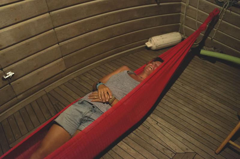 Ana Bianca in a hammock