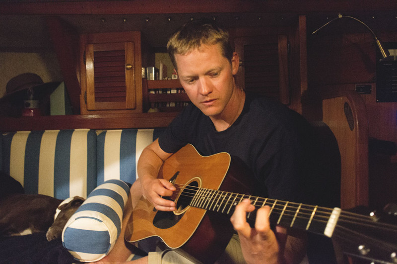 Ron playing guitar