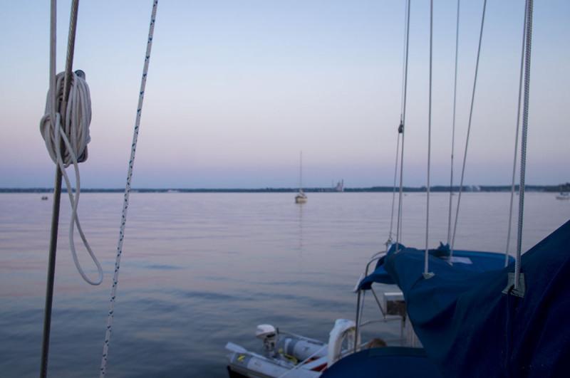 sunset on Muskegon Lake 1