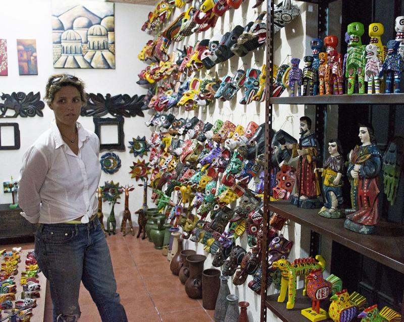 Ana Bianca in craft store