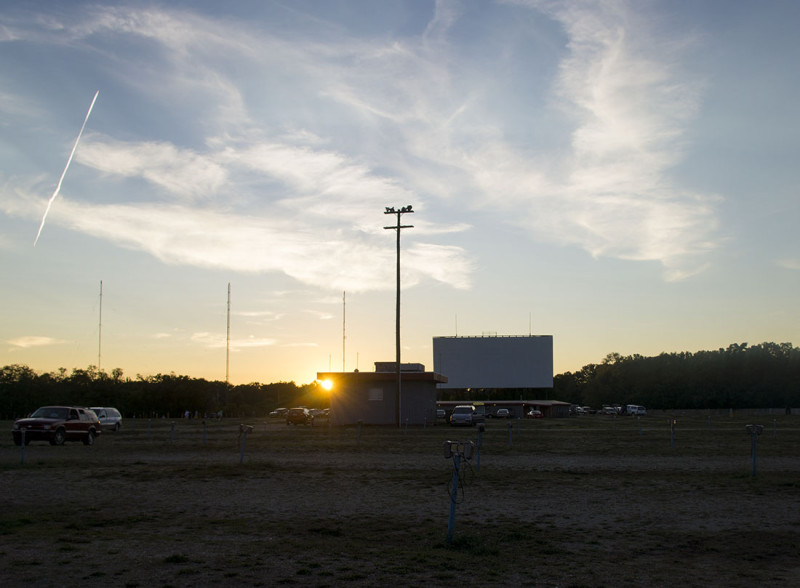 sunset at drive-in theater