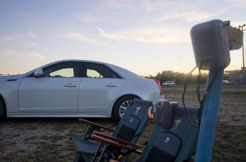 Cadillac at drive-in