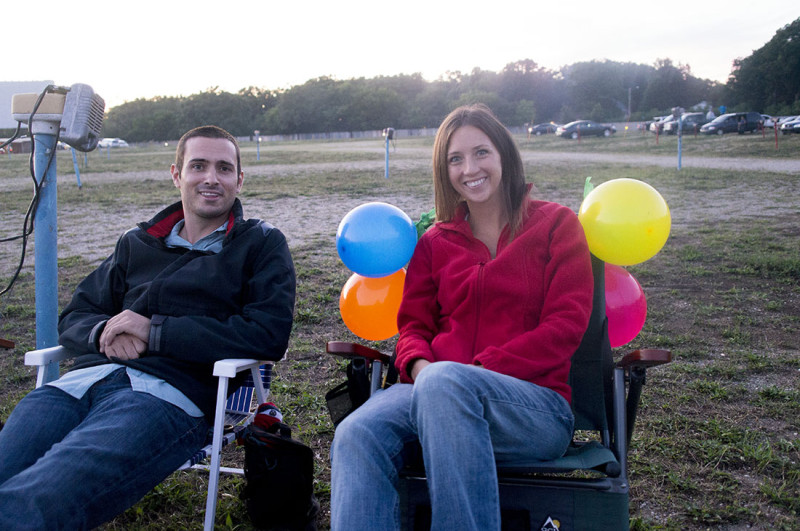 birthday at the drive-in