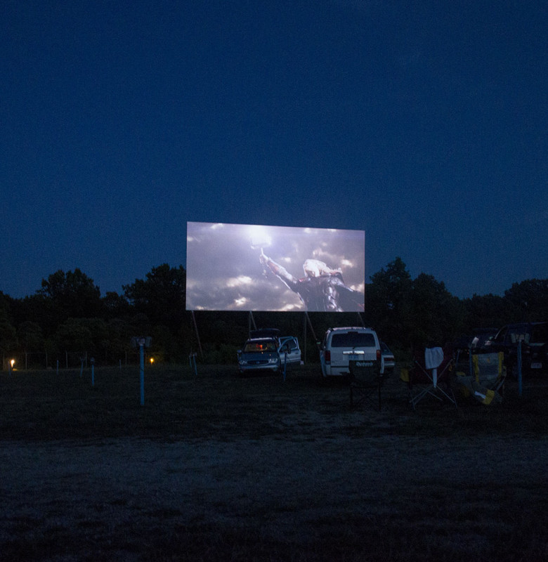 drive-in movie screen