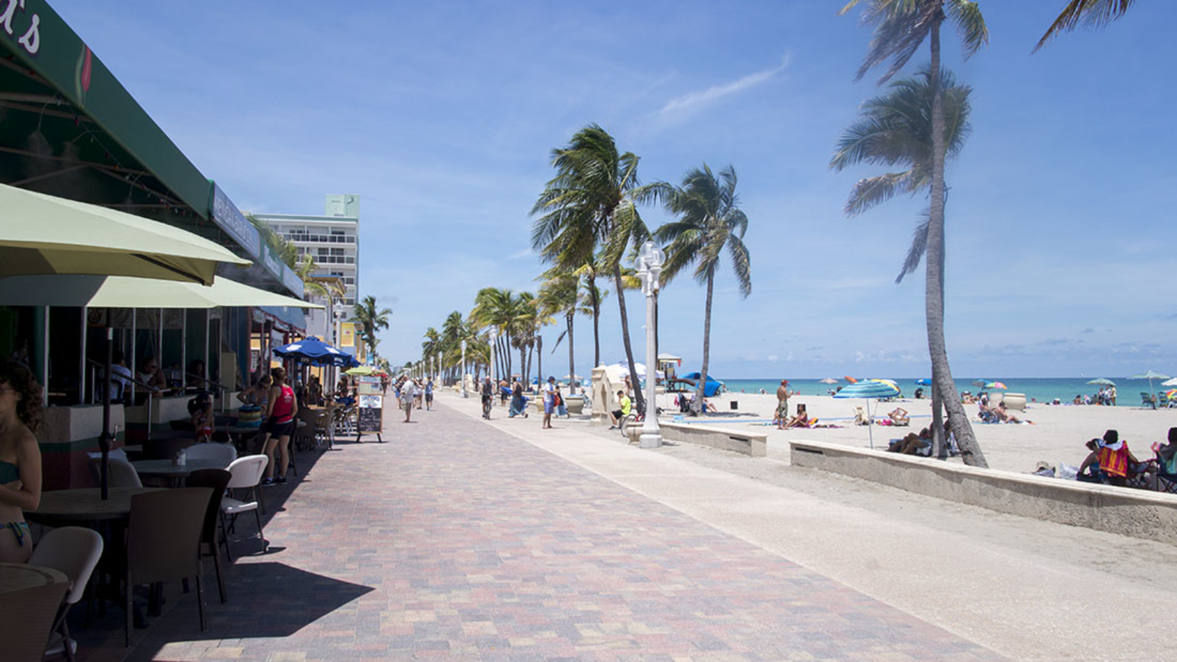 Hollywood Beach walkway 1
