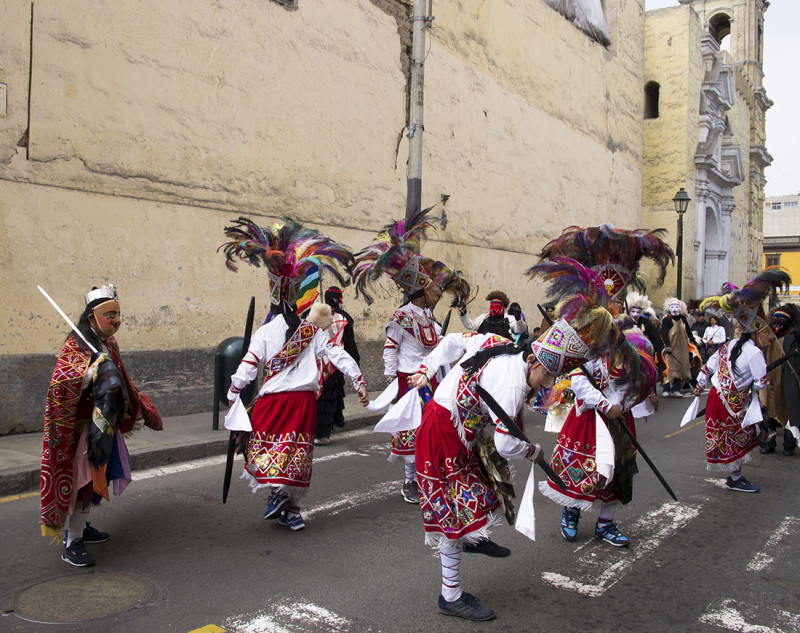 native dancers in Lima