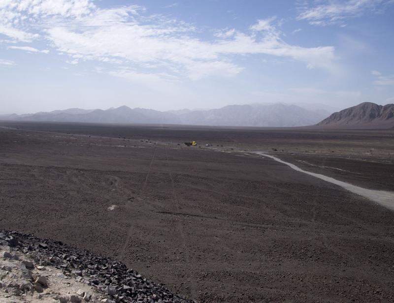 Nazca Lines running across Pan American Highway