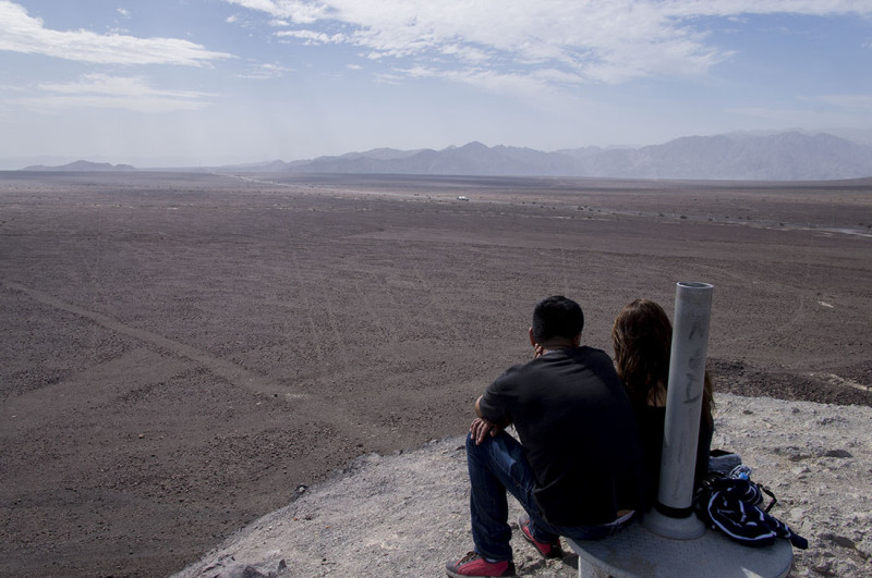 viewing Nazca desert