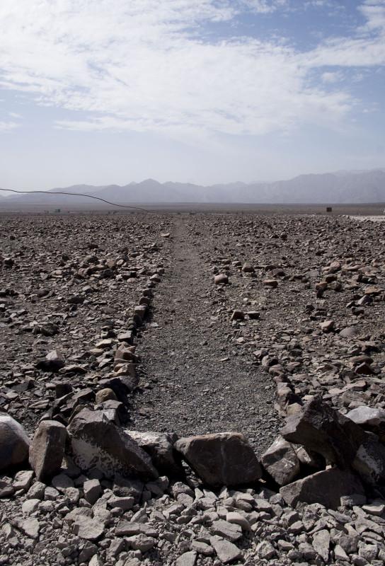 close-up of Nazca Line