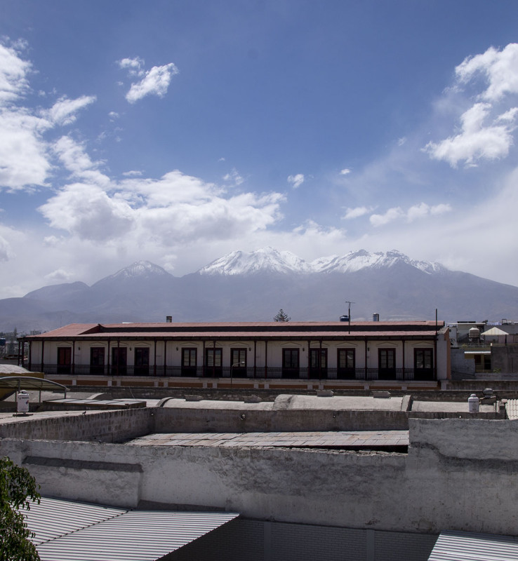 Mt. Misti in blue skies