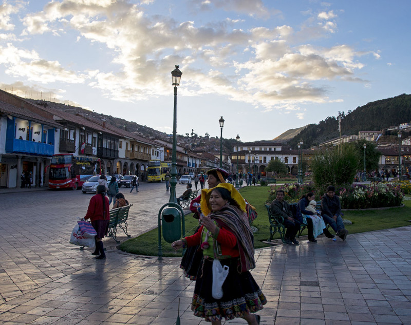 Traditional Peruvian attire in Cusco