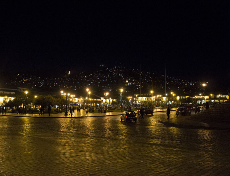 Cusco Peru at night
