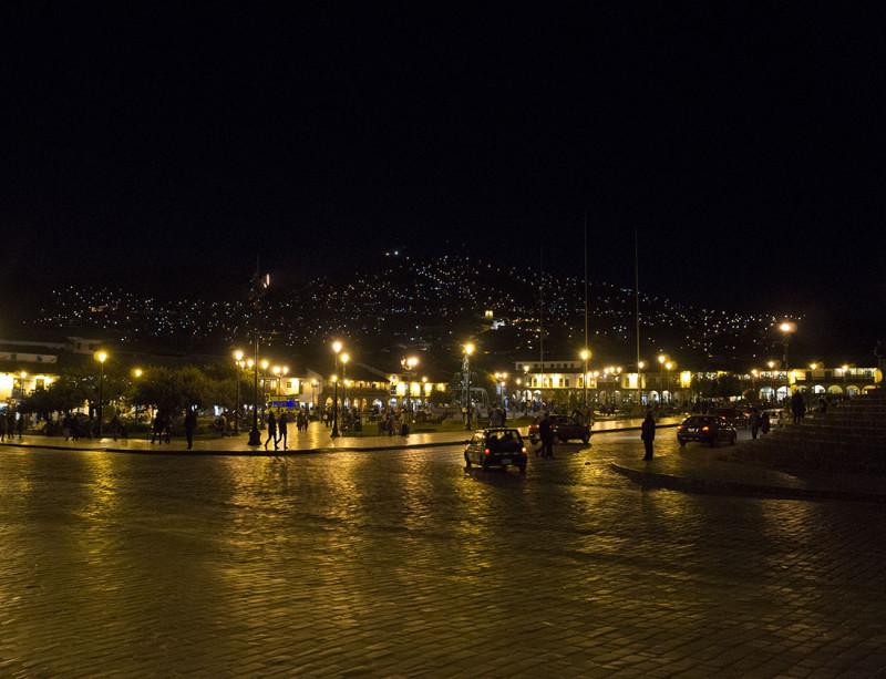 Cusco Peru at night