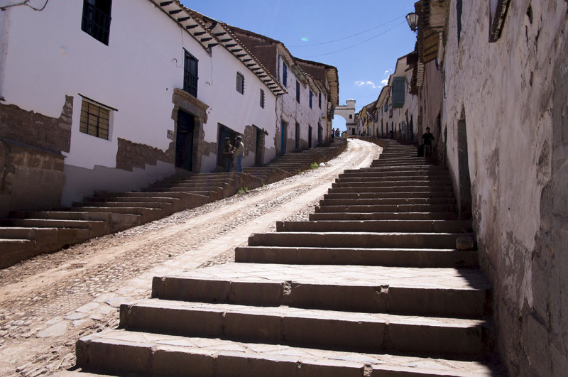 staircase in Cusco