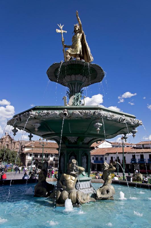 fountain in Cusco Peru