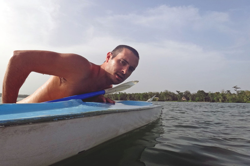 Matt kayaking