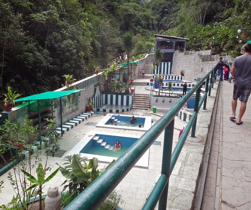 entrance to hot springs Aguas Calientes
