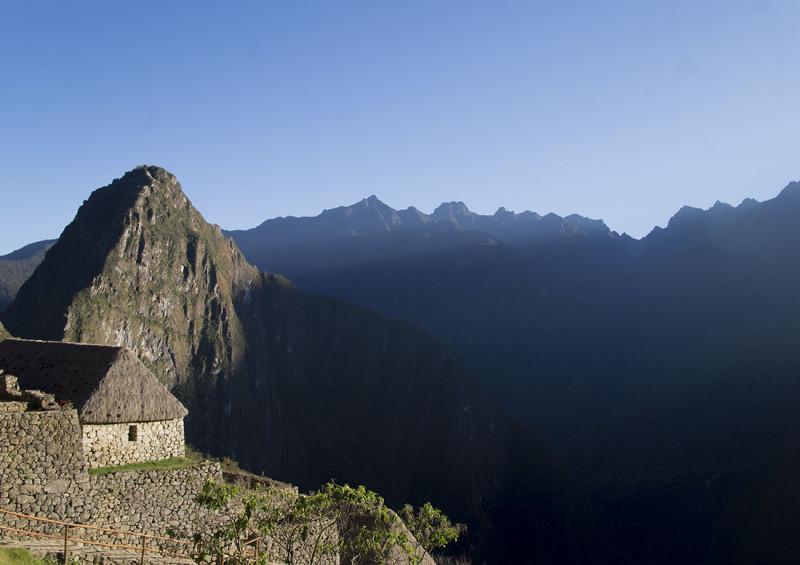 Machu Piccu just after sunrise