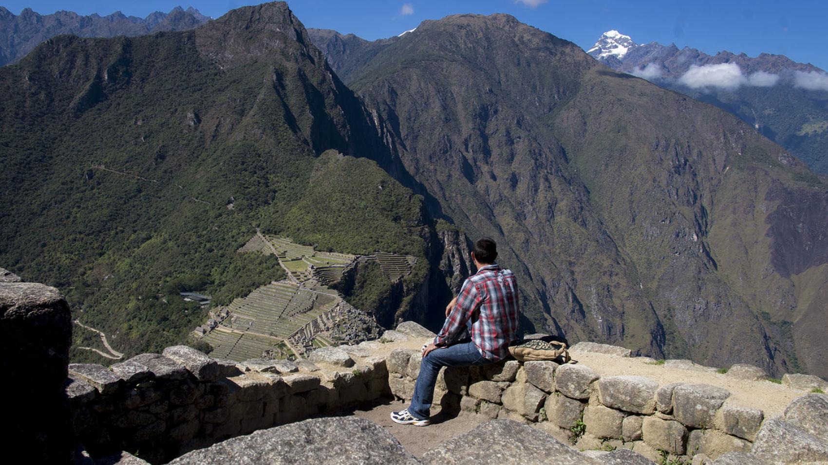 Matt overlooking Machu Picchu