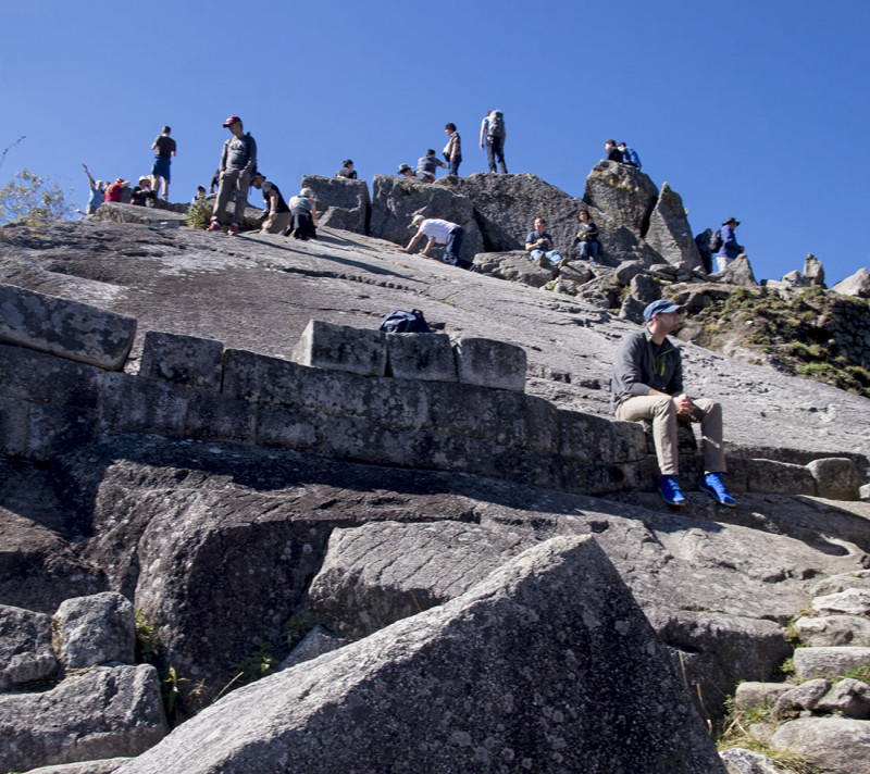 boulders at top of Huayna Picchu