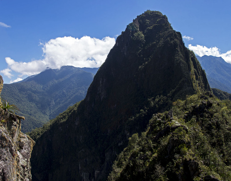 view of Huayna Picchu from Wayna Picchu