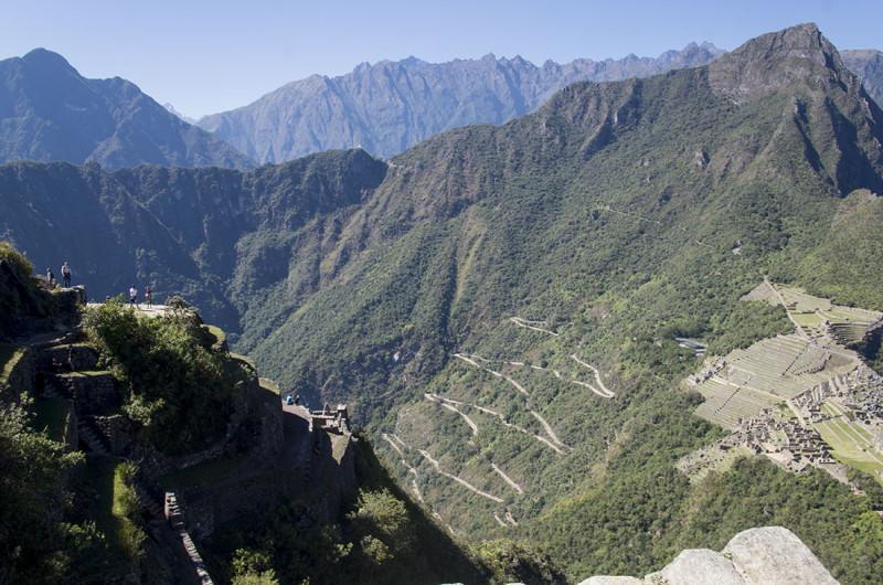 overlooking Huayna Picchu and Machu Picchu