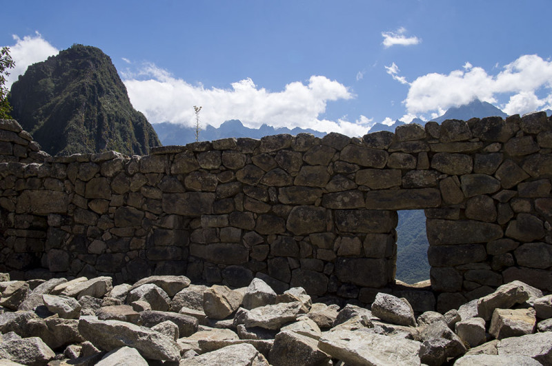 stone walls and windows of Machu Picchu