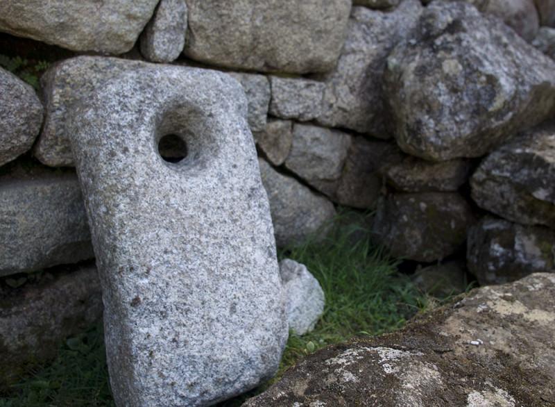 stone tablet Machu Picchu