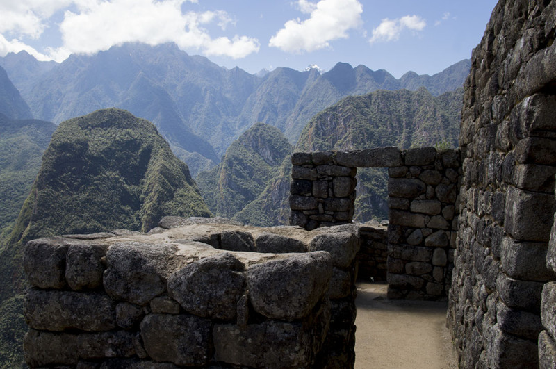 rooms overlooking cliff  Machu Picchu