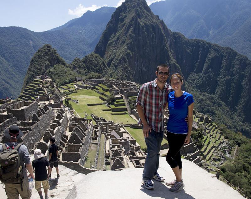 Matt & Jessica overlooking Machu Picchu