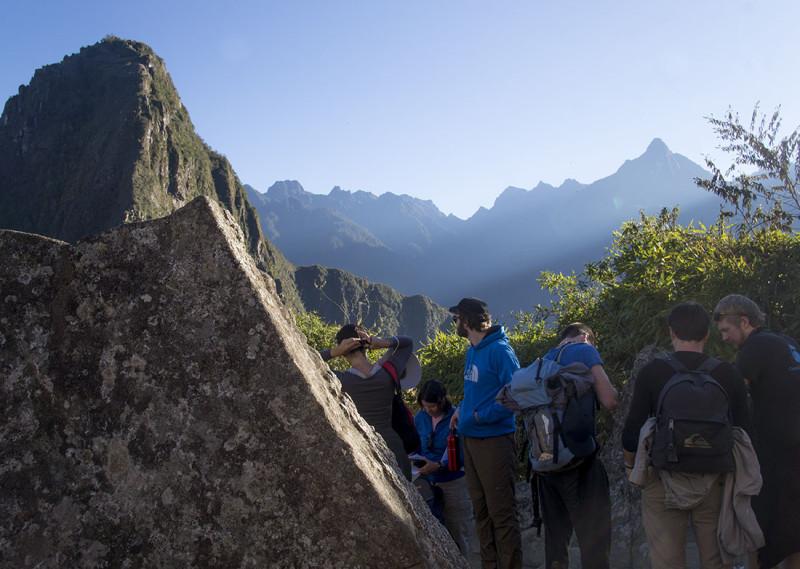 waiting to enter Huyana Picchu
